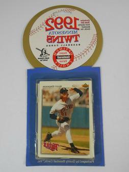 Sealed Team Set 1992 Minnesota Twins MLB 23 Cards Quality B-