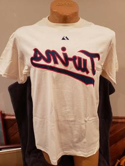 SWEET Minnesota Twins Joe Mauer Cream Adult Sz Md Majestic J