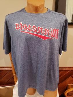 SWEET Minnesota Twins Men's Sz XXL Blue Jersey Style Dri-Fit