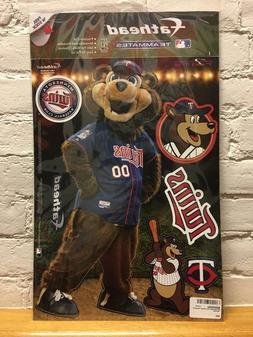 TC BEAR MLB Minnesota Twins Mascot Fathead Teammate Peel & S